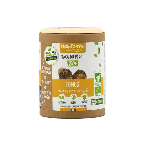 Nat&Form Maca bio - 200 gélules de 425mg - Boîte carton recyclé 200 gélules