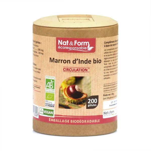 Nat&Form Marron d'Inde bio - 200 gélules de 345mg - Boîte carton recyclé 200 gélules