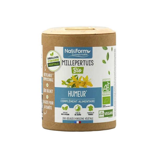 Nat&Form Millepertuis bio - 200 gélules de 275mg - Boîte carton recyclé 200 gélules