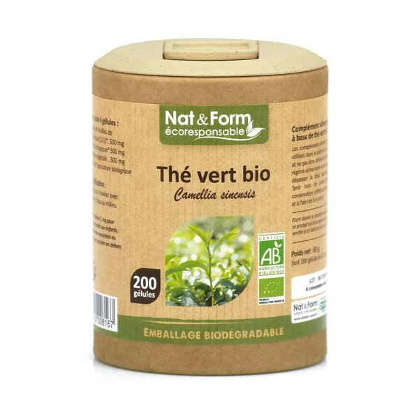 Nat&Form Thé vert bio - 200 gélules de 325mg - Boîte carton recyclé 200 gélules