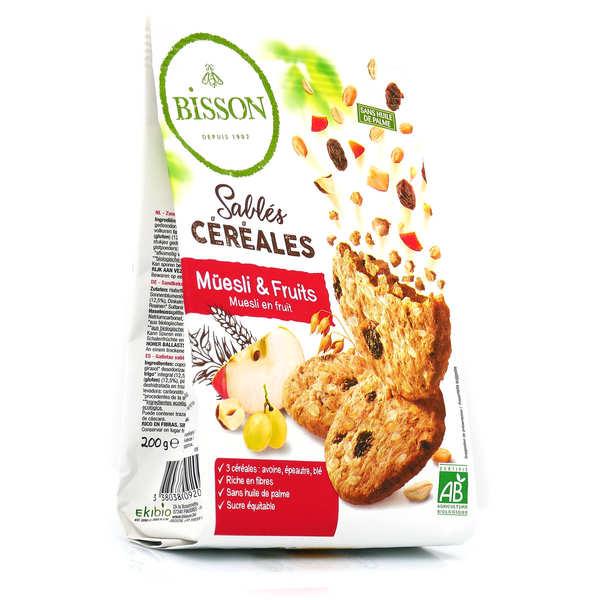 Bisson Sablés bio céréales müesli & fruits - Sachet 200g