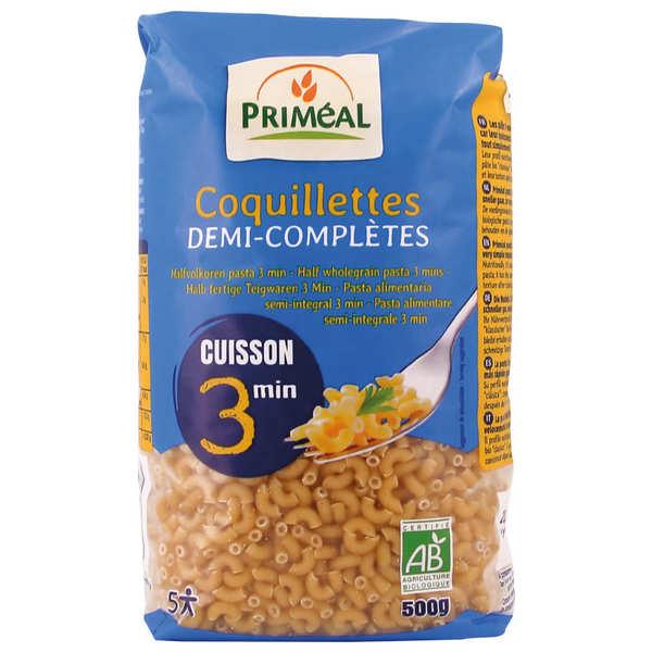 Priméal Coquillettes bio demi-complets cuisson rapide 3 minutes - Sachet 500g