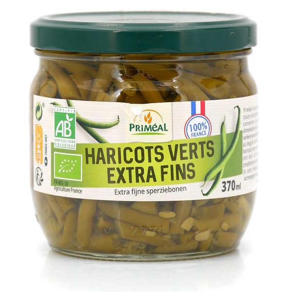 Priméal Haricots verts extra fins bio de France - Bocal verre 330g (185g net égoutté)