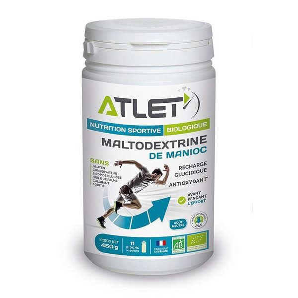 Atlet Maltodextrine de Manioc - Préparation bio pour boisson énergétique avant l'effort - Flacon 450g (11 doses)