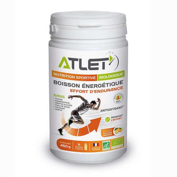 Atlet Boisson énergétique bio saveur agrumes - Flacon 450g (11 doses)