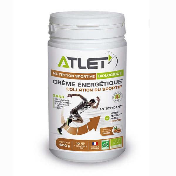 Atlet Crème dessert énergétique bio aux amandes - Flacon 600g (10 collations)