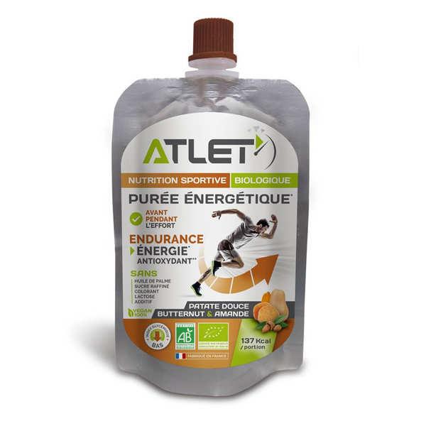 Atlet Purée énergétique bio Butternut Patate Douce et Amandes - 3 flasques de 100g