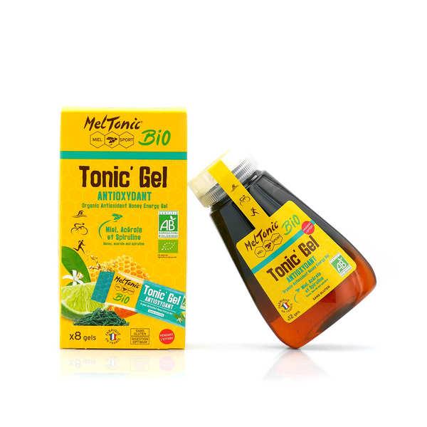 Meltonic Gel énergétique bio antioxydant - Miel, acérola et spiruline - Flacon recharge éco 12 gels