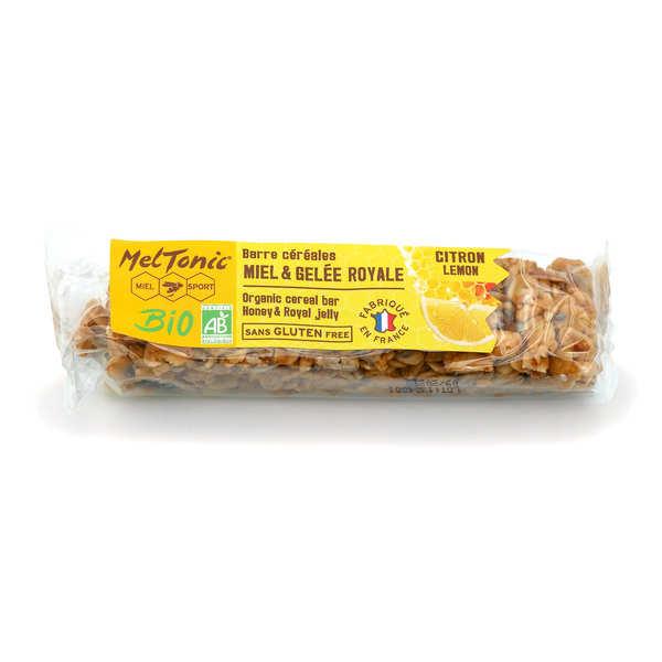 Meltonic Barre céréales Bio - Citron & graines de Chia sans gluten - Une barre énergétique 30g