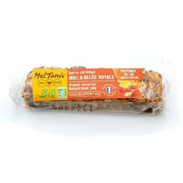 Meltonic Barre céréales Bio - Protéines de lin & Kasha sans gluten - Une barre énergétique 30g