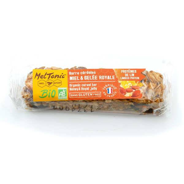 Meltonic Barre céréales Bio - Protéines de lin & Kasha sans gluten - 3 barres de 30g