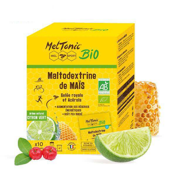 Meltonic Maltodextrine de maïs bio - Arôme naturel Citron Vert - Etui 10 sachets 40g (1 sachet = 500ml)