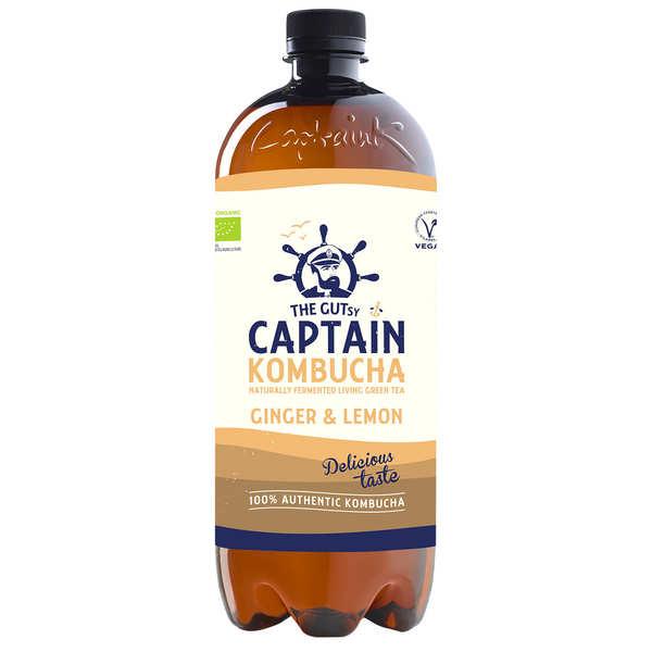 The Gutsy Captain Kombucha Captain Kombucha bio Gingembre Citron - Bouteille 1L