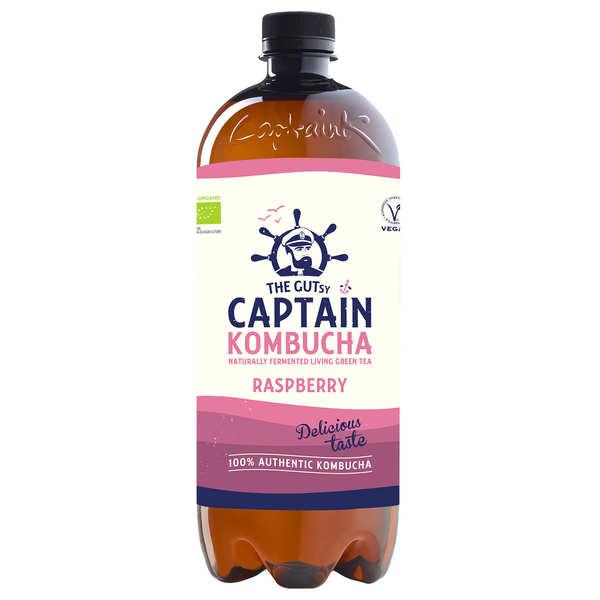 The Gutsy Captain Kombucha Captain Kombucha bio Framboise - Bouteille 1L