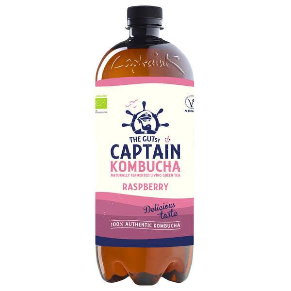 The Gutsy Captain Kombucha Captain Kombucha bio Framboise - Lot de 3 bouteilles 40cl