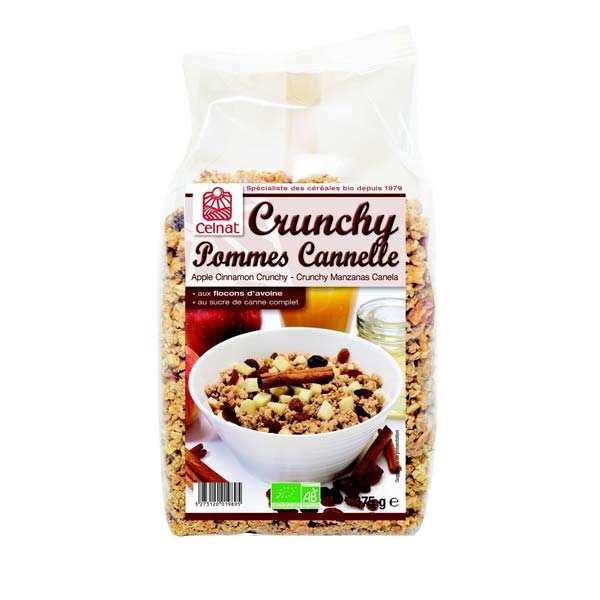 Celnat Crunchy pommes cannelle bio - 2 sachets de 500g