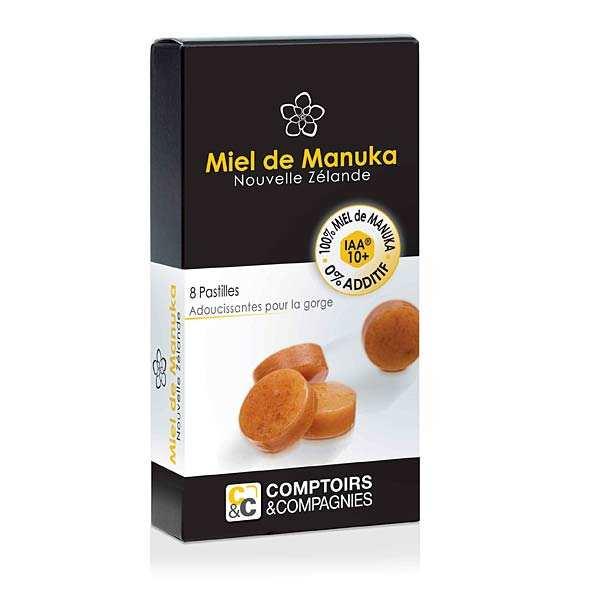 Comptoirs et Compagnies Pastilles pur miel de manuka IAA 10+ - Lot 3 boites de 8 pastilles