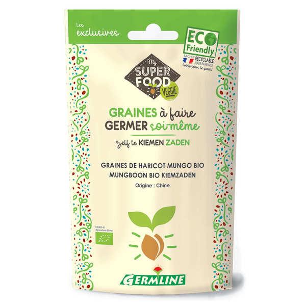 Germline Haricot mungo (soja vert) bio - Graines à germer - Lot 3 sachets de 200g