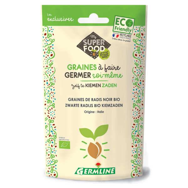 Germline Radis noir bio - Graines à germer - Lot 6 sachets de 150g