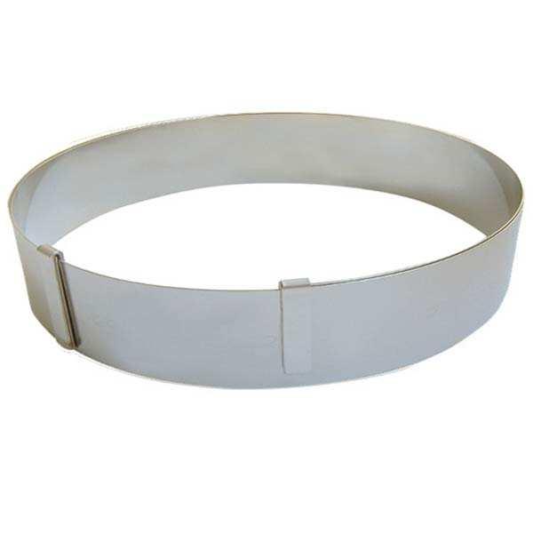 de Buyer Cercle à pâtisserie extensible en inox ressort - Le cercle