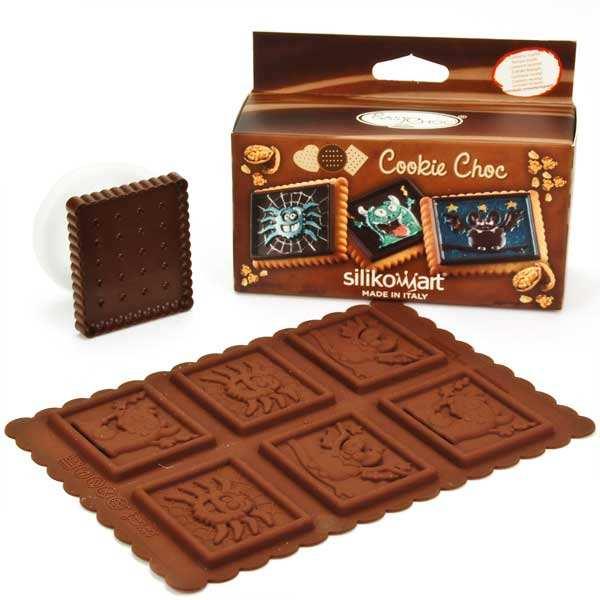 Silikomart Kit moule en silicone pour cookie monsters - Pack 3 pièces