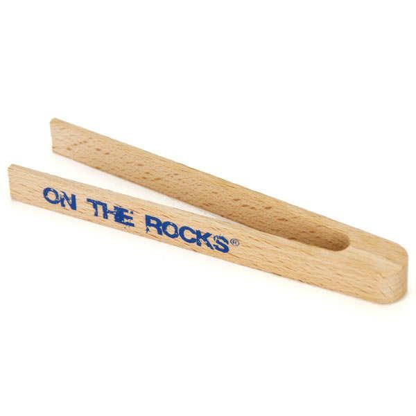 On The Rocks Pince à glaçons en bois - Pince à glaçons