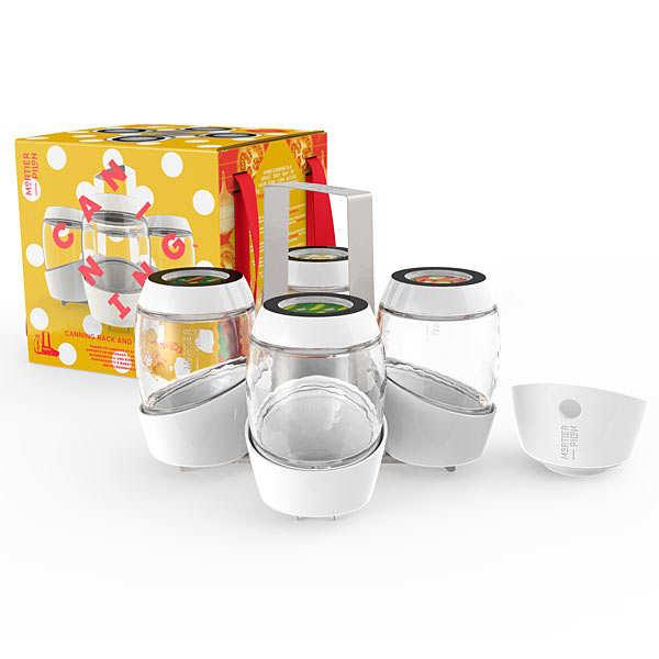 Mortier Pilon Kit de 4 pots et accessoires pour conserves maison - Kit