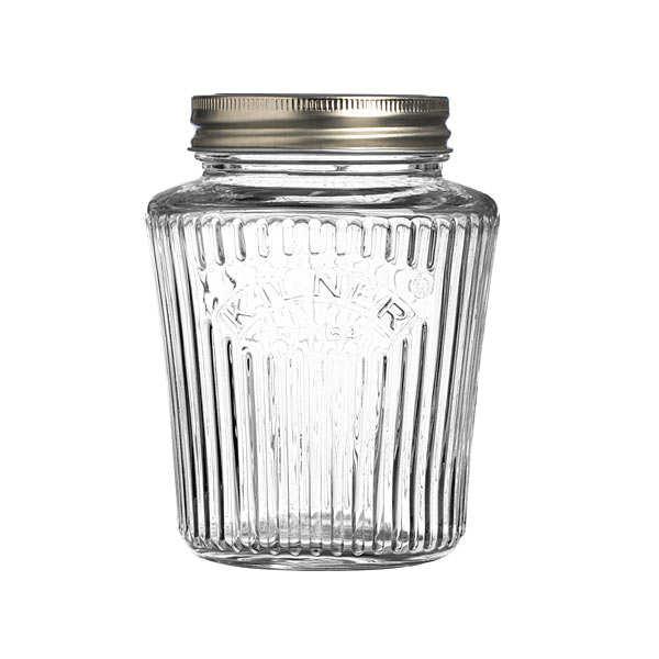 Kilner Bocal en verre, couvercle et joint gamme Vintage - Bocal 1L