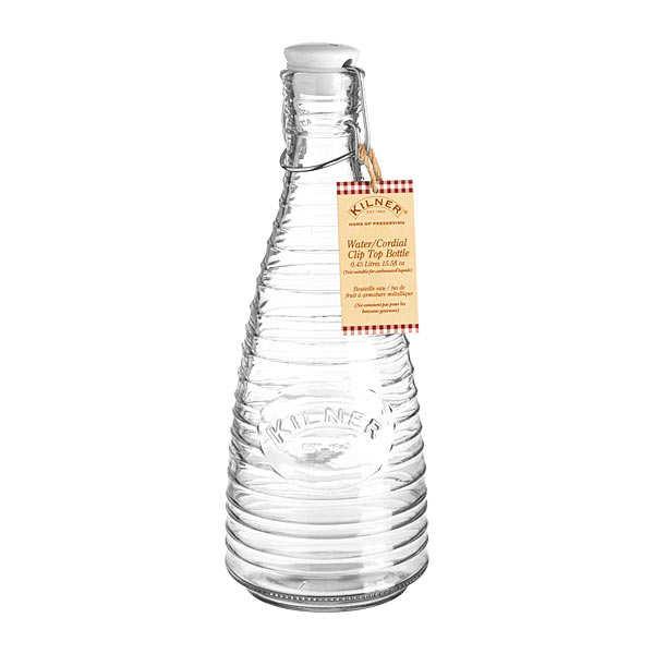 Kilner Bouteille en verre avec bouchon - Bouteille 85cl