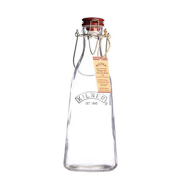 Kilner Bouteille en verre avec bouchon et anse - Bouteille 1L