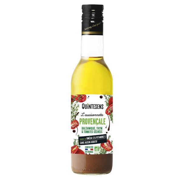 Quintesens Vinaigrette bio à la provençale 100% naturelle sans émulsion - Lot de 3 bouteilles 36cl