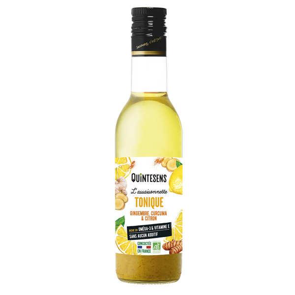 Quintesens Vinaigrette bio tonique 100% naturelle sans émulsion - 3 bouteilles de 36cl