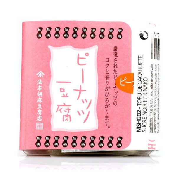 Nishikidôri Tofu de cacahuète, sucre noir et kinako - Barquette 100g