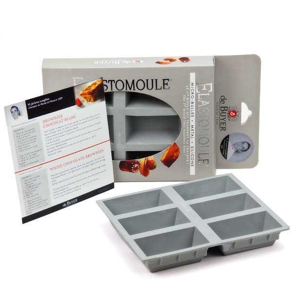 de Buyer Moule à cake portion - Elastomoule - Moule 6 cakes