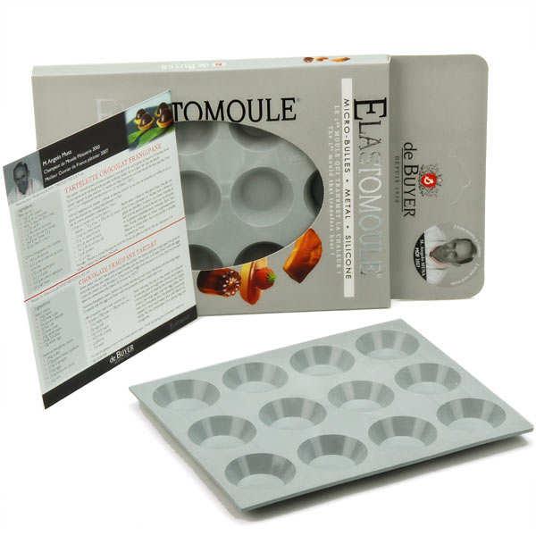 de Buyer Moule à mini tartelettes- Elastomoule - Moule 12 minis-tartelettes