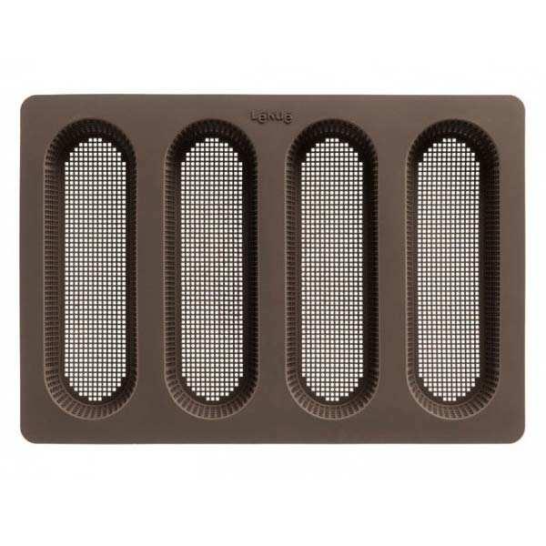 Lékué Tapis de four en silicone percé pour mini baguettes - Le moule