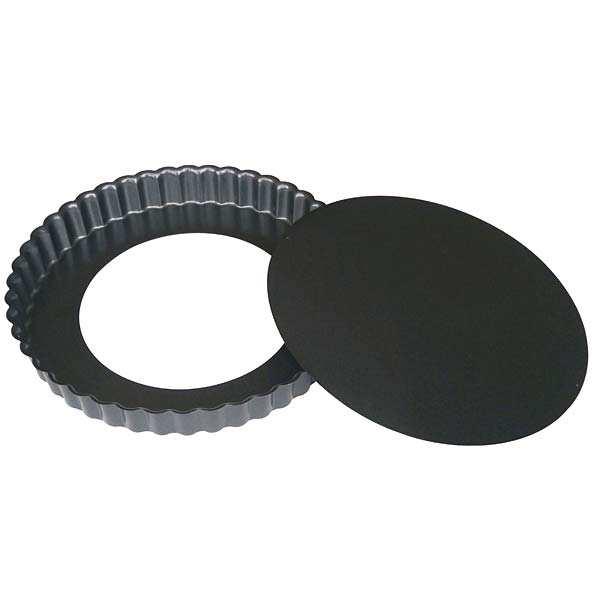 de Buyer Moule à tarte rond à fond amovible - Moule diamètre 28cm