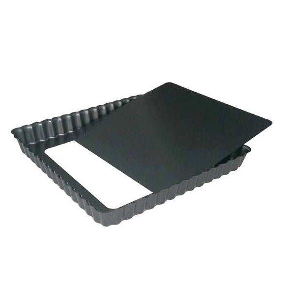 de Buyer Moule à tarte carré à fond amovible - Moule largeur 23cm