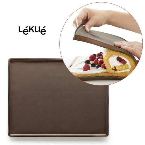 Lékué Tapis de four en silicone avec rebord spécial gâteau roulé - le tapis de four