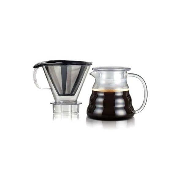 Bodum Cafetière filtre permanent et maille inox 0.6L - Melior - Cafetière 0.6L, 5 tasses