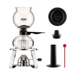 Bodum Set cafetière à dépression avec réchaud à gaz rechargeable en inox 1L et accessoires - Pebo - Cafetière + réchaud - Publicité