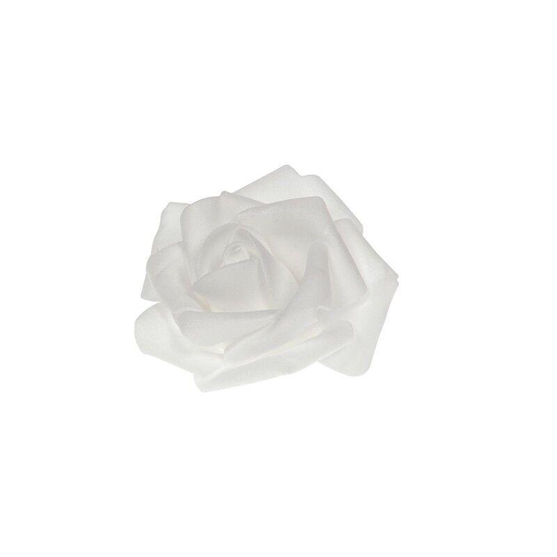 Générique 48 ROSES EN POLYFOAM BLANC 2,5 CM