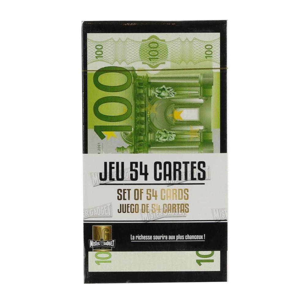 Générique JEU DE 54 CARTES IMPRESSION VERSO EURO OU DOLLAR