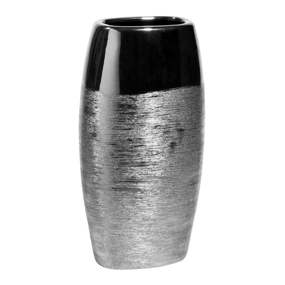 Maisons du Monde Vase amande en céramique argenté H 34 cm
