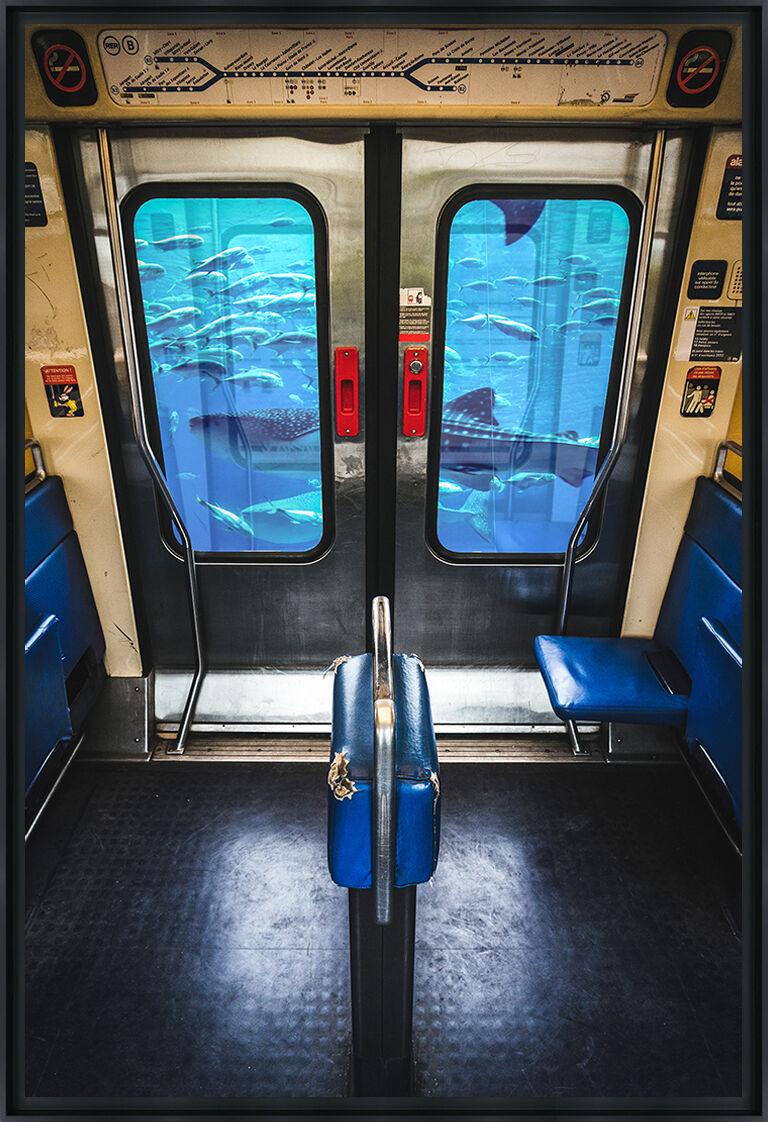 Pixopolitan RER BOCAL - Photo encadrée de Mathieu Alemany 60x90 cm
