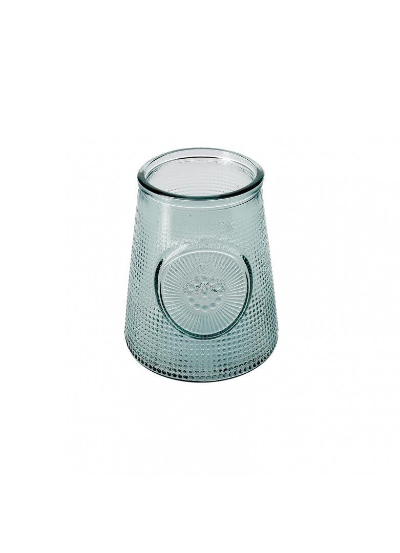 Créations Léonie's France Vase verre recyclé rétro picots H19cm