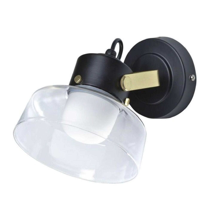 Corep Applique de salle de bain métal & verre D21cm