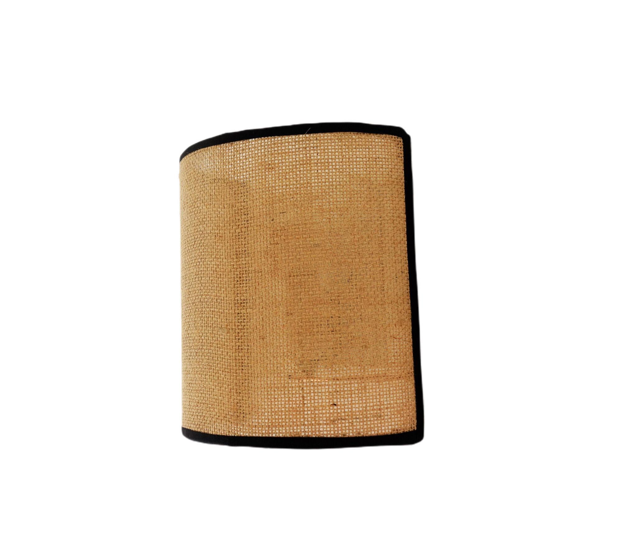 Belamp Applique en toile de jute bordure noire - 20*20 cm