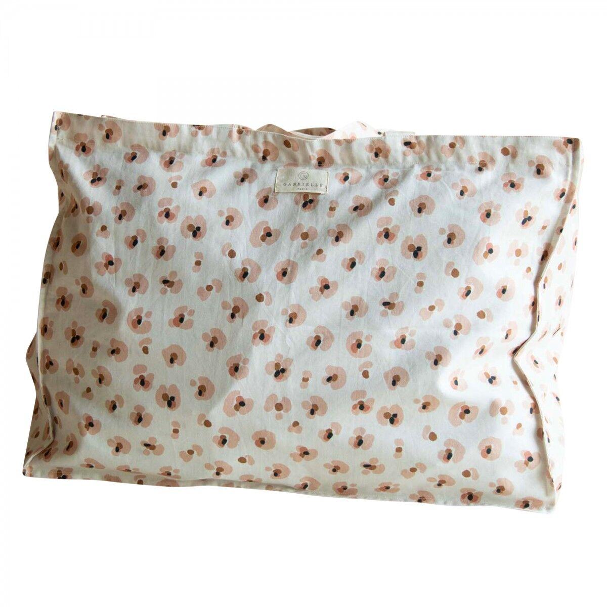 Gabrielle Paris Sac cabas en coton imprimé léopard crème