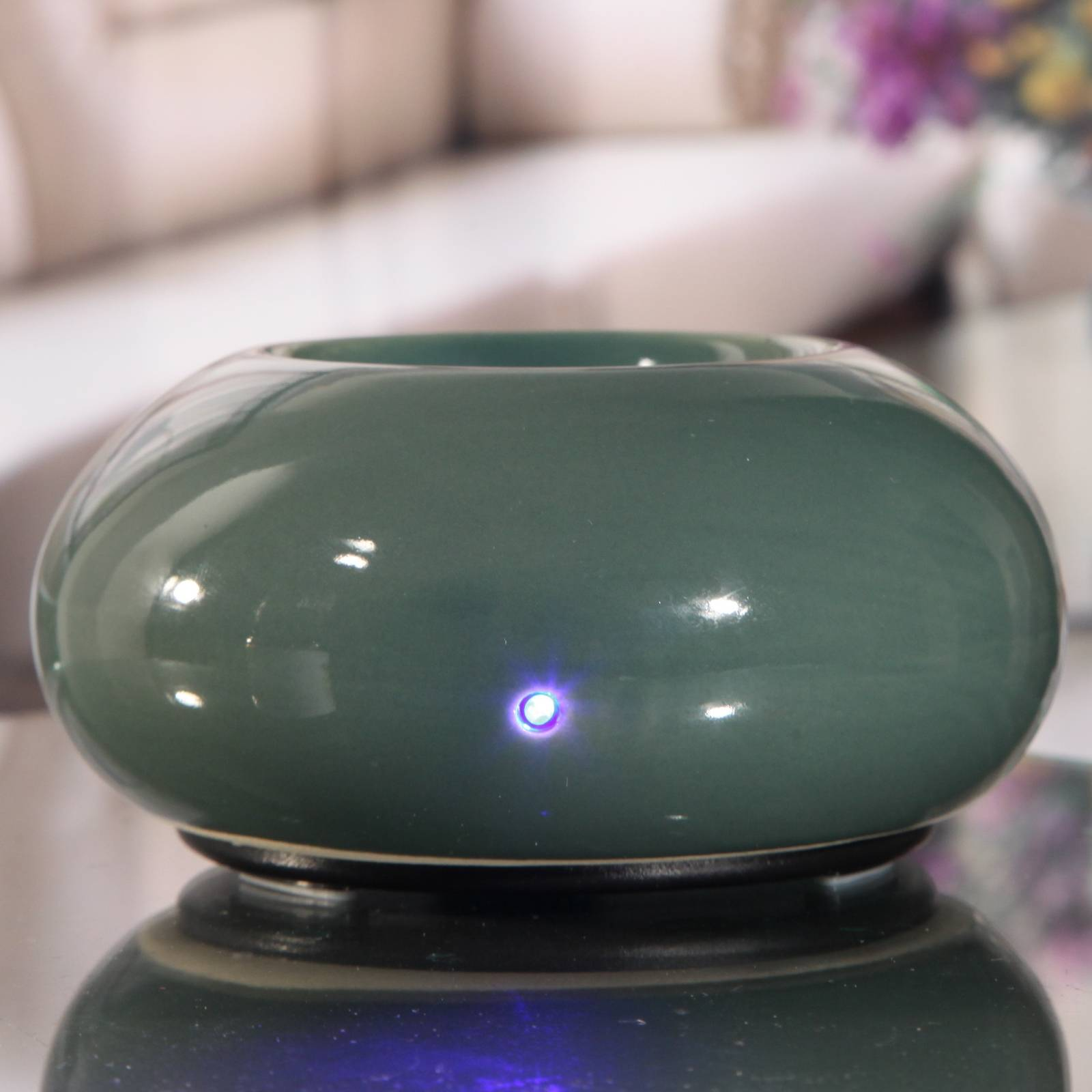 Zen'Arôme Diffuseur d'huiles essentielles par chaleur douce Cosy vert
